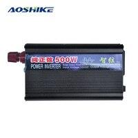 AOSHIKE falownik z sieci czystej fali sinusoidalnej napięcia falownik samochodowy 12V 220V 500W mocy falownika z podwójnym USB ładowarka samochodowa Adapter w Inwertery samochodowe od Samochody i motocykle na