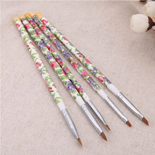Pandahall 5pcs/set UV Gel Acrylic Nail Art Brush Drawing Painting Pen Set Design Manicure Decoration Hair Tool