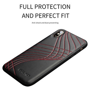 Image 3 - QIALINO Fashion Corve Genuine Leather Phone Case for iPhone X/XS Luxury Ultra Slim Back Cover for iPhone XR/XS Max 5.8/6.5 inch