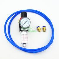 AFR2000 DIY Air Pressure Regulator Water Separator Trap Filter Airbrush Compressor With 8mm Fittings 5Meter Hose