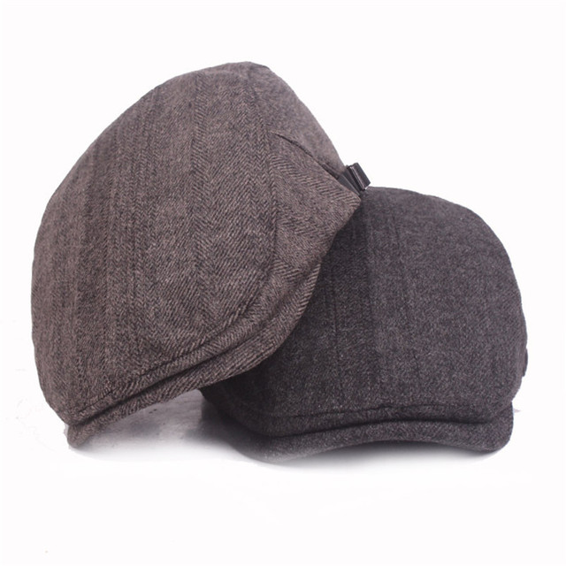 Fasbys 2017 Hombres Mujeres Casual Boinas Sombreros Calientes Ajustable  Tapas de vendedor de Periódicos Hiedra Plana dba5f66829c