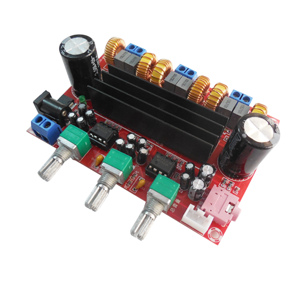 50W *2 +100W 2.1 Channel Digital Subwoofer Power Amplifier Board TPA3116D2 12V-24V Wide Voltage Module Parts Component 4 1 channel lm4780 amplifier finished board ac 24v 28v 4x68w 130w subwoofer