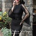 Le palais винтаж лето 50-х годов элегантные чистые длинные flare рукавом покачиваться карандаш little black dress плюс размер 4xl платье pinup платья