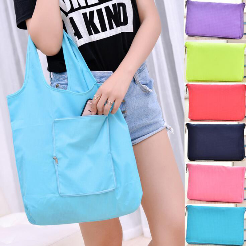 500pcs/lot Eco Shopping Bag Reusable Cloth Fabric Grocery Packing Recyclable Hight Simple Design Healthy Tote Handbag