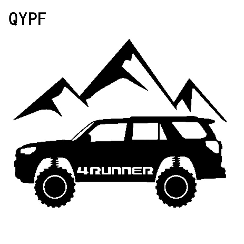 QYPF 18.3cm*14.4cm 4 RUNNER Are Surrounded By Chic Hills Interesting Vinyl Car Sticker Window Decal C18-0305