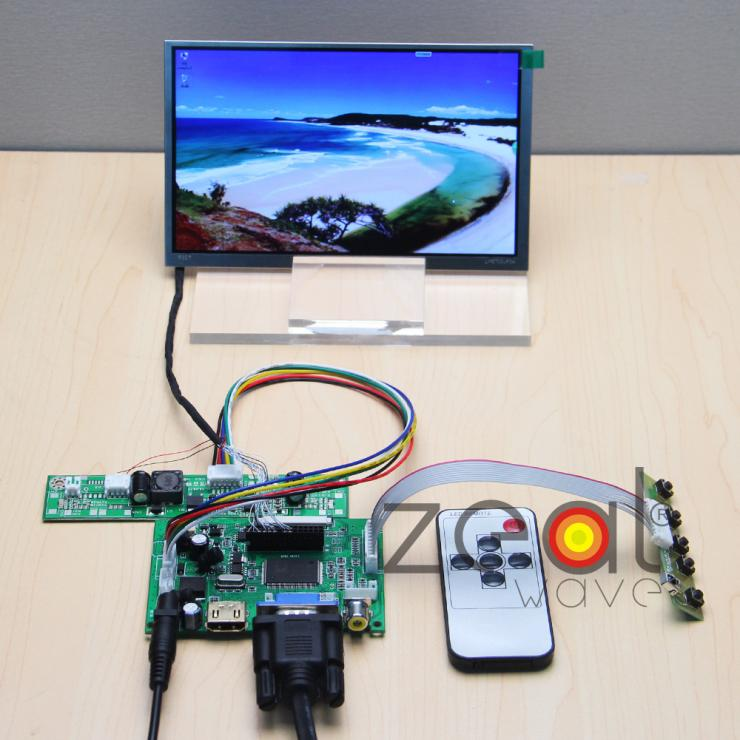 (HDMI+VGA+2AV) Controller Driver Board+7 7Inch TFT 1024*600 IPS For LMS700JF04 LCD Display