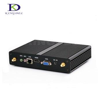 Fanless mini itx pc Intel Celeron 3205U/Celeron 2955U USB 3.0 WiFi HDMI VGA LAN Windows 7 Mini business desktop NC590
