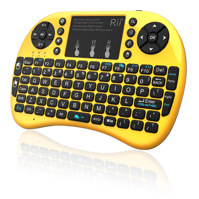 Rii i8+2.4G Mini Wireless QWERTY Gaming Keyboard Touchpad Mouse Keyboard with Backlit Backlight for PC/Android Tv Box/X360/PS345