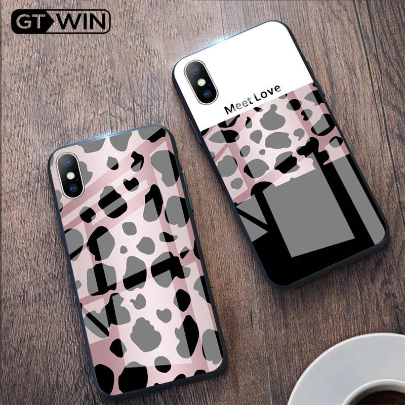 GTWIN Luxury สำหรับ iPhone Xs Max Xr X 8 7 6 6s Plus Leopard Print โทรศัพท์มือถือ Shell Shell Case