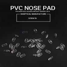 free shipping PVC nose pad,glasses nose pad eyeglasses parts 2000pcs screw in glasses accessories