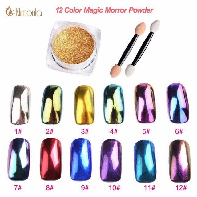 2 g/caja espejo mágico efecto Polvos de maquillaje s brillo clavo ...