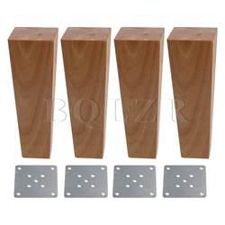 BQLZR 4 шт. деревянный правый угол трапециевидная диван ноги 18 см высота 4x6 см поверхности