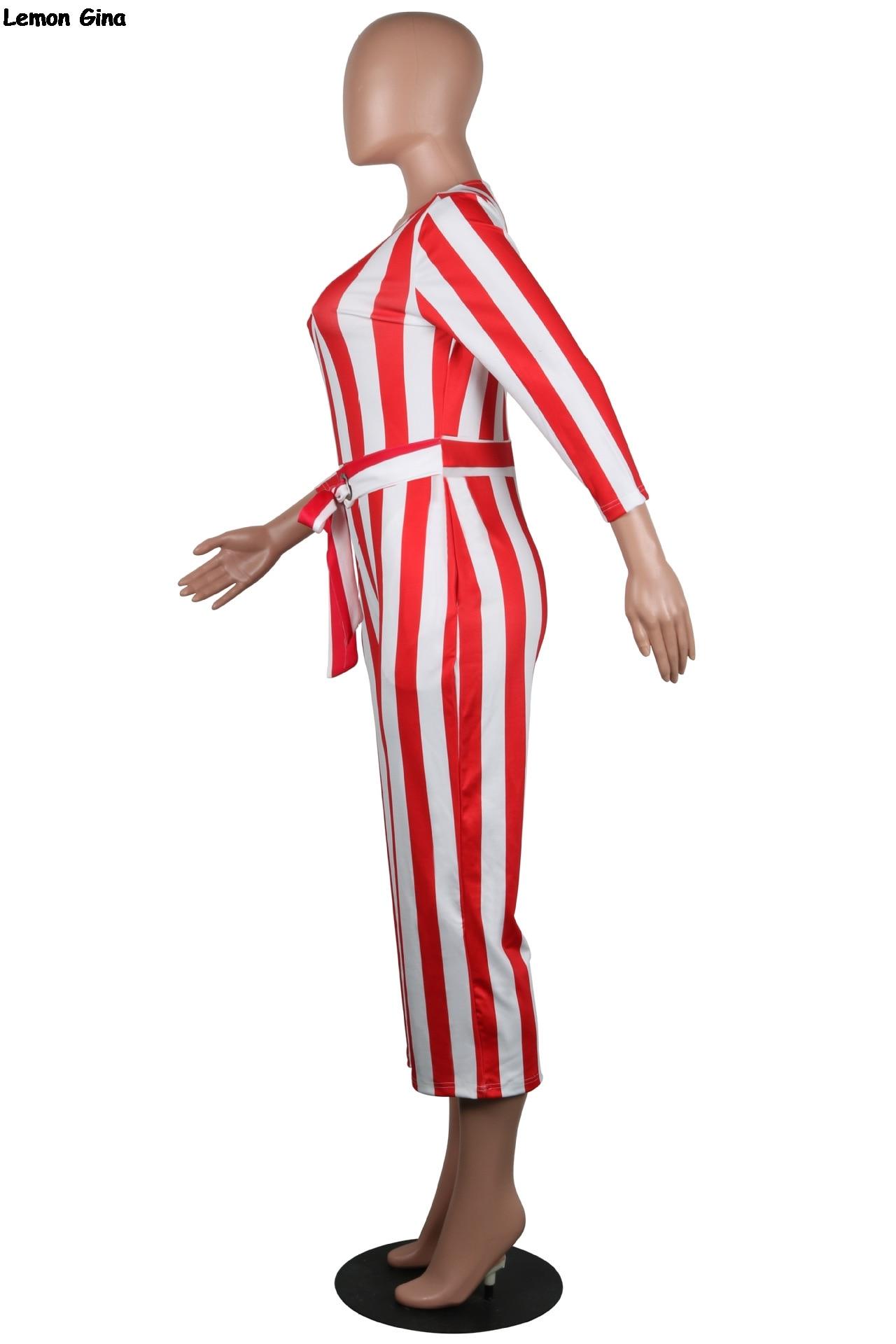 Ceintures Droite Blanc O Rayures Rouge Longues Combinaisons Taille À Manches cou A8267 Barboteuses Haute Pantalon Moulante Tenues Capris Hiver Yqpv7wq