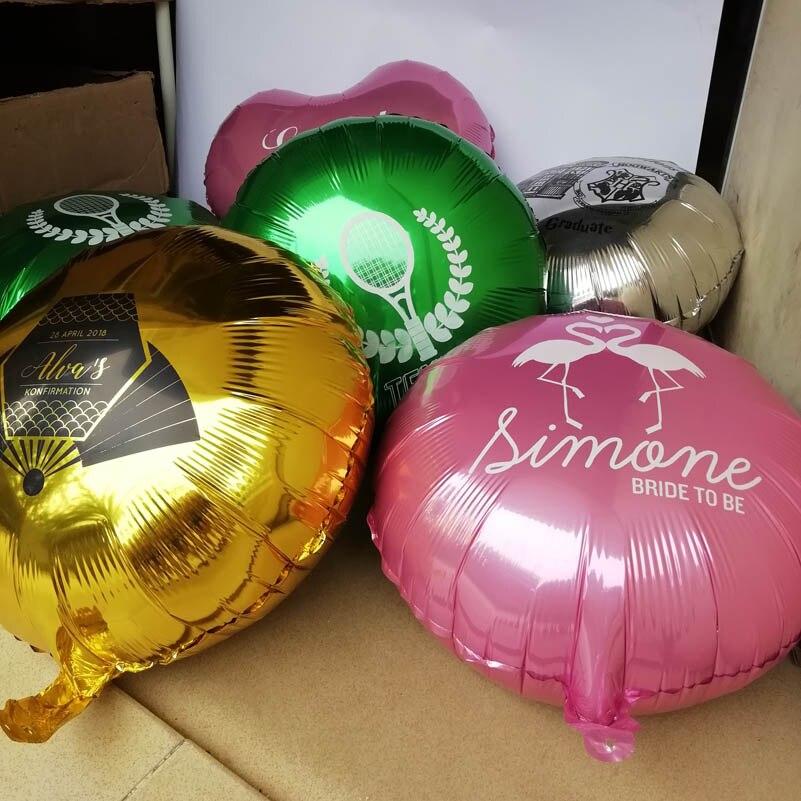 Customize design Aluminium foil balloons DIY logo print Birthday party supplies Anniversary Wedding decorations wholesale