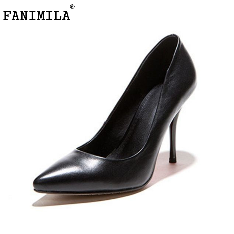 women real genuine leather classics pointed toe high heel shoes woman sexy fashion brand pumps ladies shoes size 33-42 R7195 size 33 43 r08323 ladies pointed toe real genuine leather flat shoes women bowknot sexy spring fashion footwear brand shoes