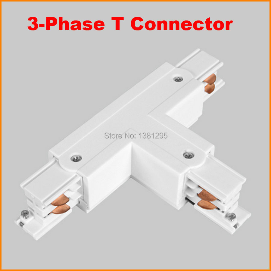 Track Light Rail T Shape Connector Aluminum Accessories 3 Lighting Without Wiring Phase Circuit 4 Wires In From Lights On
