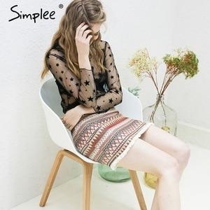 Image 3 - Simplee Vintage spódnica ołówkowa kobiety dół boho chic frędzle etniczna mini spódnica letnia plaża kobiet wysokiej talii krótka spódniczka kobiet