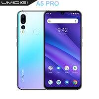 UMIDIGI A5 PRO Android 9.0 Octa Core 32GB 6.3' FHD+ Waterdrop 16MP Triple Camera Dual 4G 4150mAh 4GB RAM 4G Celular Smartphone
