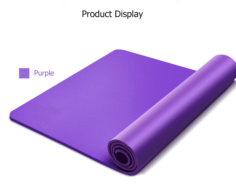 10MM Yoga Mat NBR Fitness Mat Thick Non-slip Sport Yoga Gym Mat Esterilla Pilates Tapete Yoga Mat with Strap 16