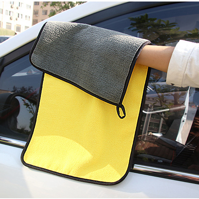 30*30/60CM Car Wash Towel Microfiber Car Cleaning Drying Cloth Hemming Car Care Cloth Detailing Car Wash Towel For Toyota #3