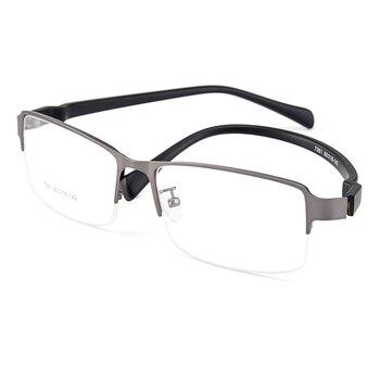 Gmei Optische Männer Große Größe Titan Legierung Gläser Rahmen für Männer Brillen Flexible Beine IP Galvanik Legierung Brille Y7061