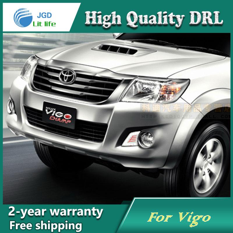 купить high quality daytime Running Light Fog light High Quality LED DRL For Toyota Vigo 2012 2013 fog lamp 12V 6000K 2pcs/set онлайн