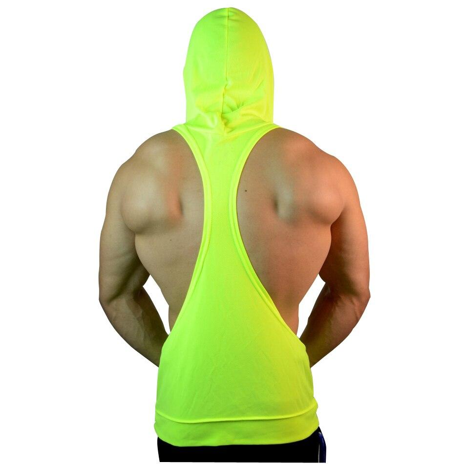 MUSCLE ALIVE Mens Bodybuilding Stringer Hoodies Tank Tops Hoody Fitness Sweatshirts Pullover Polyester Sportwear Muscle Clothing serveware