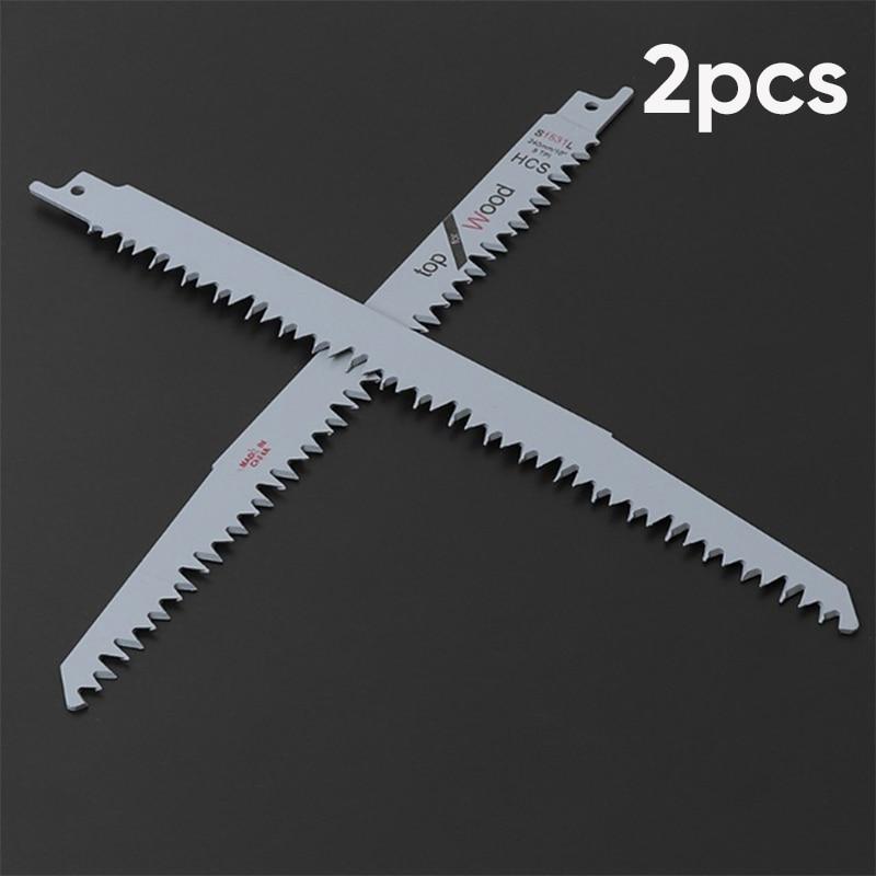 2pcs 9 5TPI Reciprocating Sabre Saw Blades Wood Carbon Steel Cutting Tools Saw Blade Metal Multitool Blades
