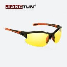 JIANGTUN Polarized Sunglasses Night Vision Brand Designer Fashion For Night Driving Enhanced Light At Rainy Cloudy Fog Day