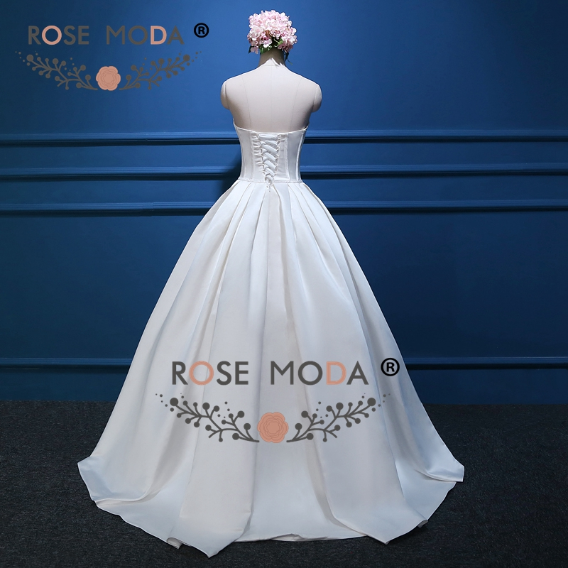 Rose Moda Vintage Ball Gown Strapless Wedding Dress with Pockets ...