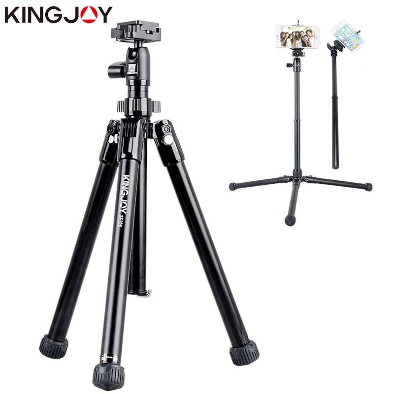 KINGJOY officiel SC056 Mini trépied pour appareil photo avec Selfie bâton support trépied pour téléphone Gorillapod Mobile tripode Para Movil