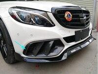 C класс углерода волокно передний бампер вентиляционное отверстие выход крышка отделка сетки гриль рамки для Mercedes W205 Стандартный версия