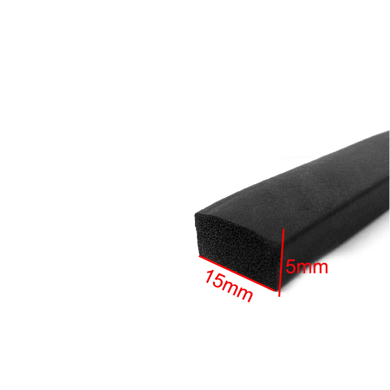 15mm x 5mm adhesive rubber foam sponge cabinet door window seal strip crashproof weatherstrip sound insulation