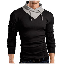Men 'S T -Shirt 2018 New Tee Tops Long Sleeve Turtleneck Stylish Slim Fit T -Shirt Casual Men T Shirt Size Xxl Tee Tops jiade men s long sleeve tech t shirt polo original fit worker t shirt