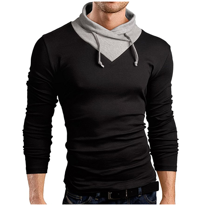 Men 'S T -Shirt  New Tee Tops Long Sleeve Turtleneck Stylish Slim Fit T -Shirt Casual Men T Shirt Size Xxl Tee Tops
