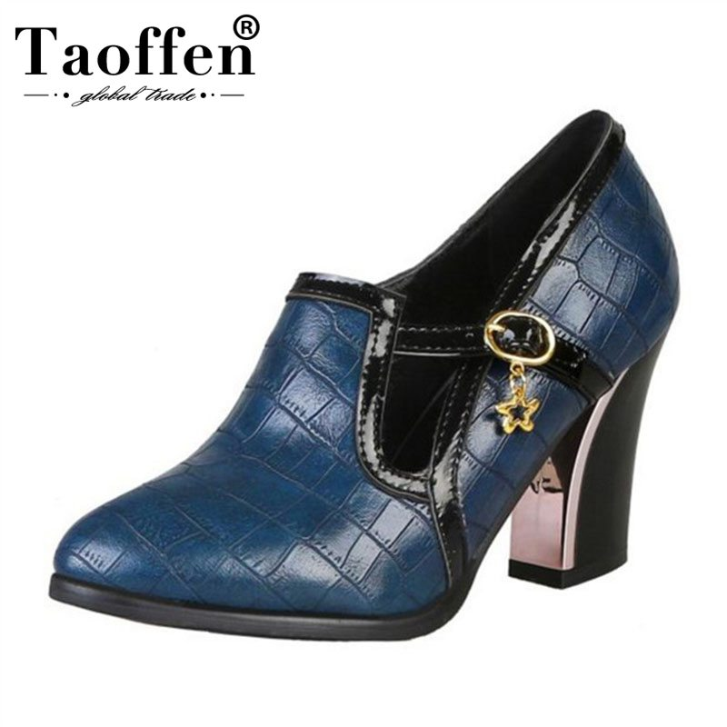 Taoffen Women Plus Size 31-48 Pointed Toe Pumps 4 Colors Office Ladies Metal Super High Heel Spring Shoes Women Party Pumps Taoffen Women Plus Size 31-48 Pointed Toe Pumps 4 Colors Office Ladies Metal Super High Heel Spring Shoes Women Party Pumps