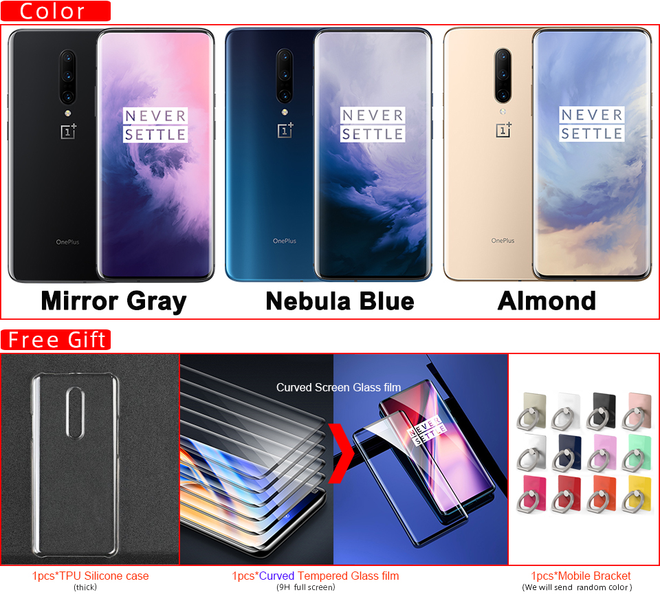 2019 Original Oneplus 7 Pro Mobile Phone 6/8GB RAM 128/256GB ROM Snapdragon 855 Octa Core 48MP Camera Screen Unlock NFC phone