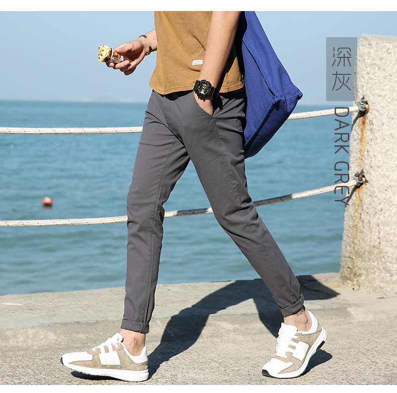 Casual Men Cotton Slim Fit Chinos Pants 5
