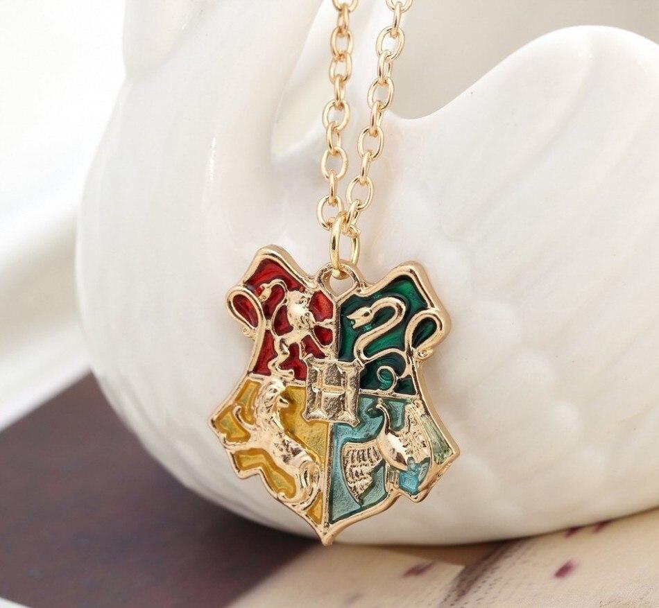 HTB1Og VQXXXXXXkapXXq6xXFXXXJ - Harry Potter Symbol Badge Necklace Gold Hogwarts