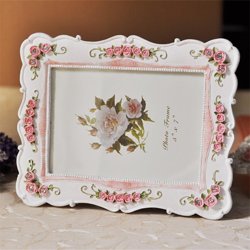 Europa Klassische Hochzeit Fotorahmen Weiße Rose Eadge Bilderrahmen ...