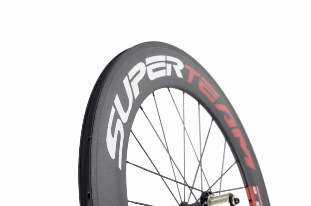 Roues de bicyclette 700C de pneu de carbone de Superteam pour des roues de vélo de route