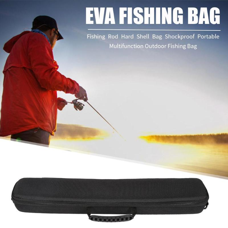 Portable Fishing Bag 2019 New EVA Shockproof Fishing Rod Reel Hard Shell Pack Fishing Tackle Storage Bag Case for Pesca in Fishing Bags from Sports Entertainment