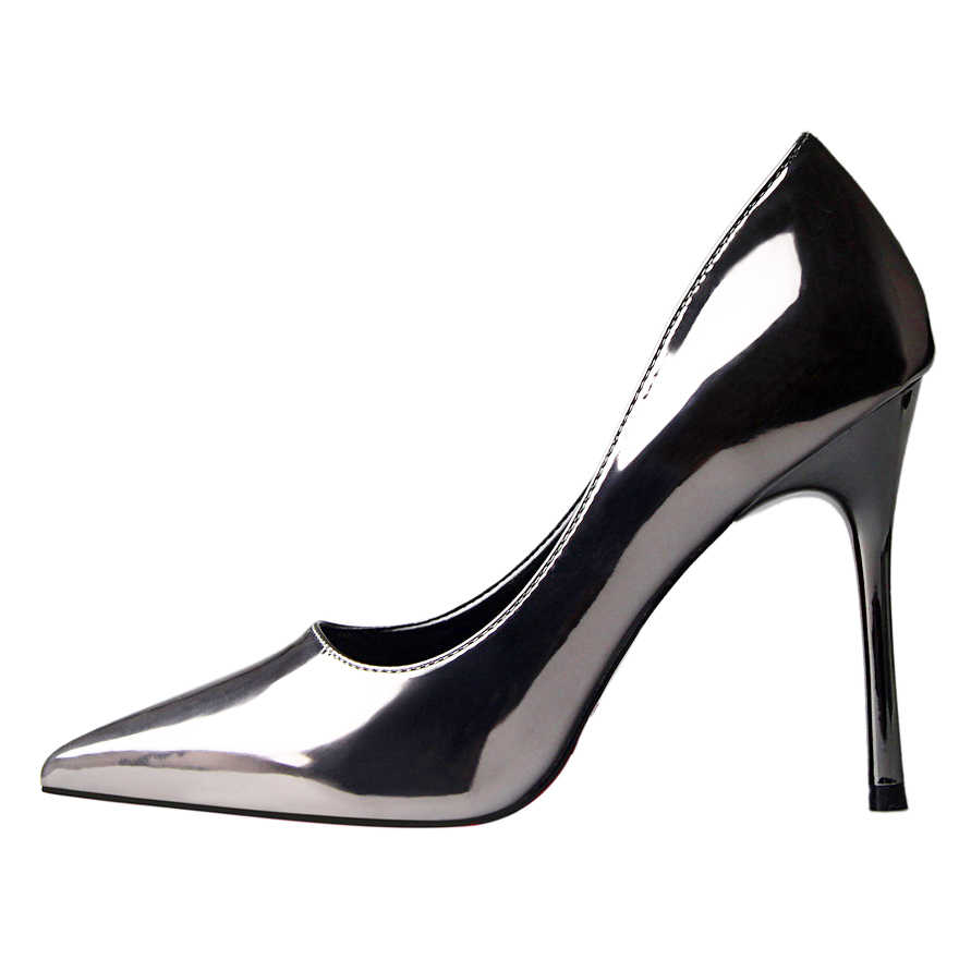 D Henlu Shoes Woman Brand Basic Women Pumps Glossi Shoes Patent Leather Pointed  Toe Thin Heel High 84b632a8b1c7