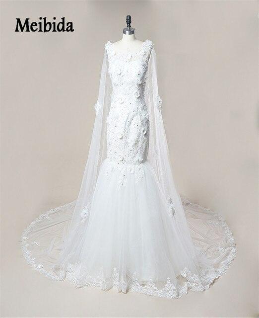 Gelinlik Champagner Vintage Spitze Brautkleid 2017 meerjungfrau ...