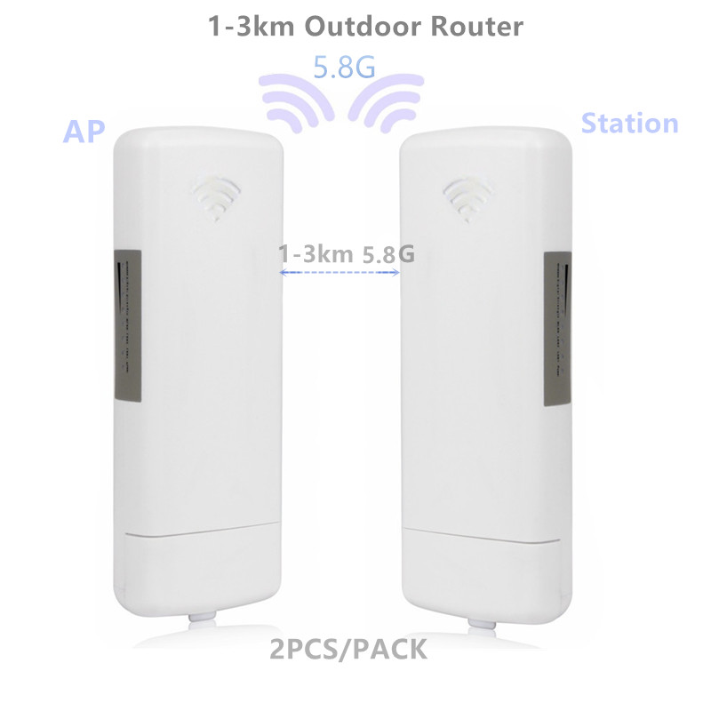 9344 9331Outdoor AP Router 1-3km Chipset WIFI Router WIFI Repeater CPE Long Range 300Mbps5.8G  AP Bridge Client Router Repeater