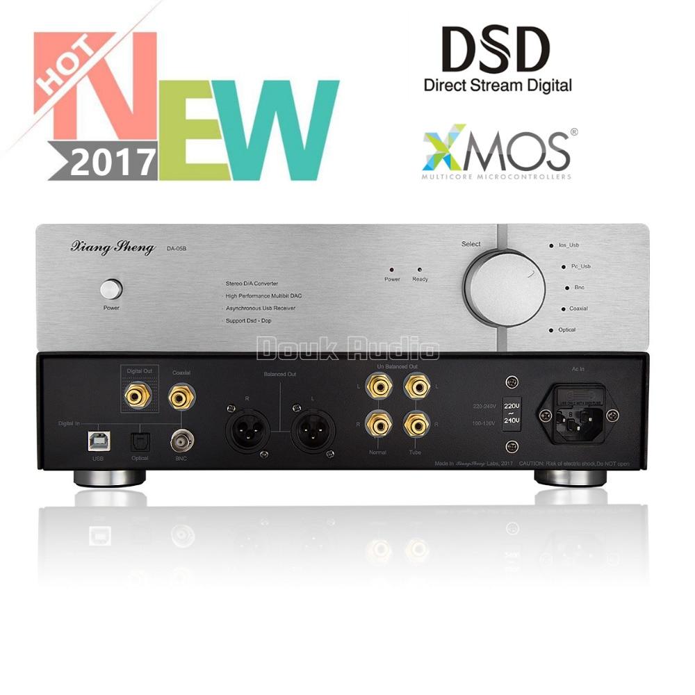 2018 New Nobsound XiangSheng DAC-05B USB HiFi DAC Asynchronous XMOS / Dual AK4495 / DSD Balance Digital Audio Decoder xiangsheng dac 05b asynchronous xmos dual 1794 ak4118 ak4495 dsd balanced decoding xu208 decoder 32bit 384k dsd256