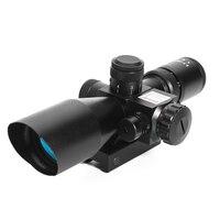 DA 2.5 10x40E Hunting Riflescope Red Green Illuminated Crosshair Reflex Sight Tactical Scopes Air Gun Electro Red Dot Sight
