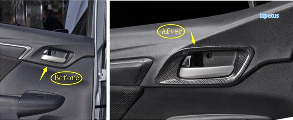 ABS Carbon Fiber Style Door Inner Handle For HONDA ACCORD 2014-2017