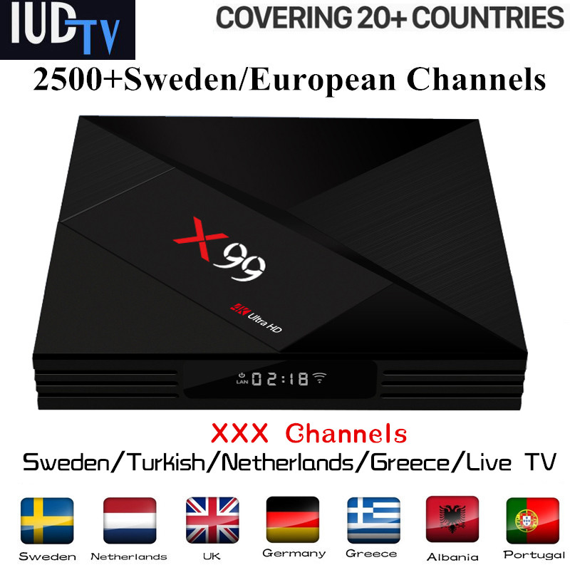 Germany IPTV BOX X99 RK3399 android TV box 7 1 IPTV Subscription Sweden Netherlands Europe UK