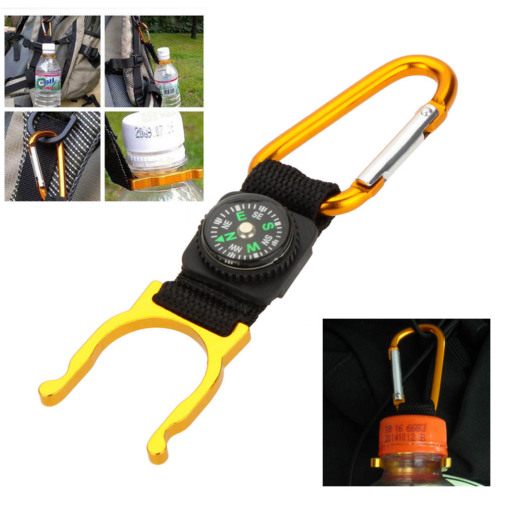 Aluminum Carabiner Water Bottle Buckle Hook Holder Clip Portable Tactical Camping Hiking Key Chain Multi-color Colorful